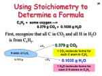 using stoichiometry to determine a formula1