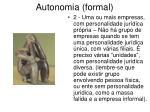 autonomia formal