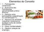 elementos do conceito