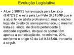 evolu o legislativa