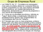 grupo de empresas rural