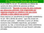 o tupiniquim direito de arena