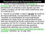 responsabilidade do sucessor e sucedido