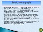 book monograph