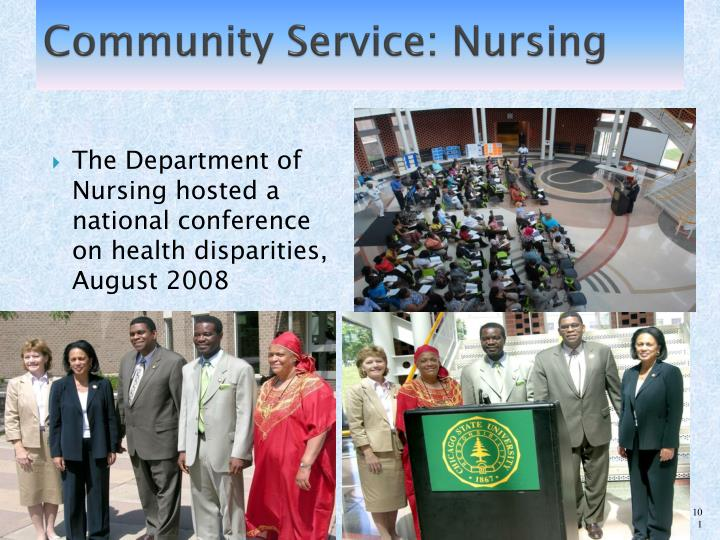 Community Service: Nursing