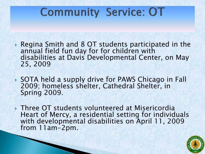 Community  Service: