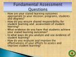 fundamental assessment questions