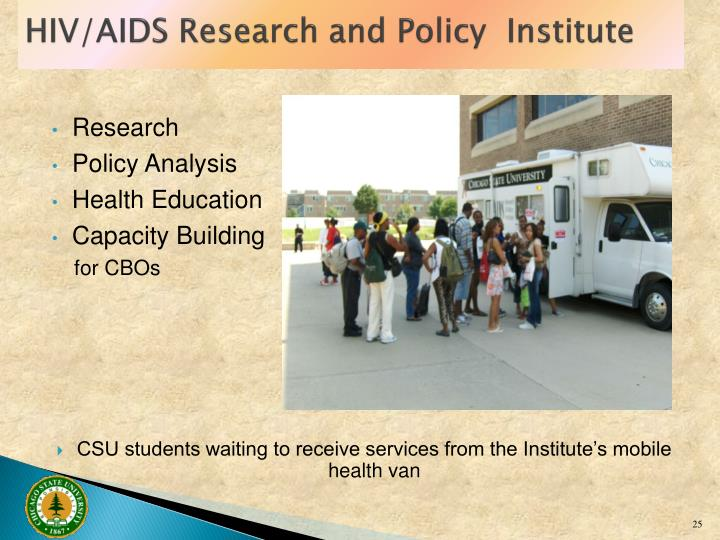 HIV/AIDS Research and Policy  Institute