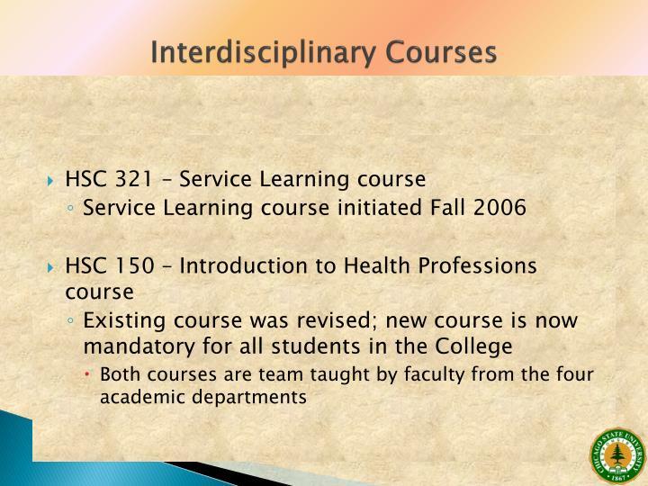 Interdisciplinary Courses