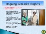 ongoing research projects