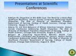 presentations at scientific conferences2