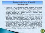presentations at scientific conferences3