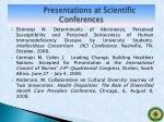presentations at scientific conferences4