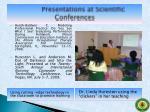presentations at scientific conferences5