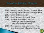 previous retreat themes