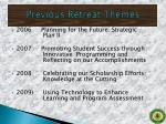 previous retreat themes1