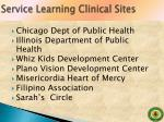 service learning clinical sites