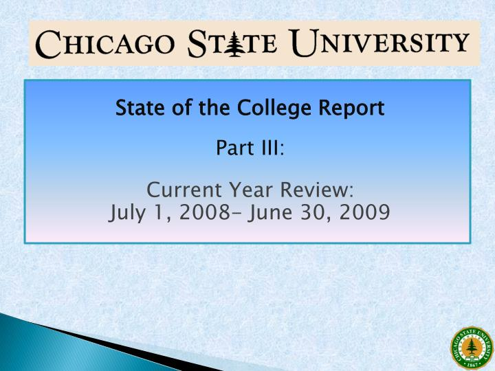 State of the College Report