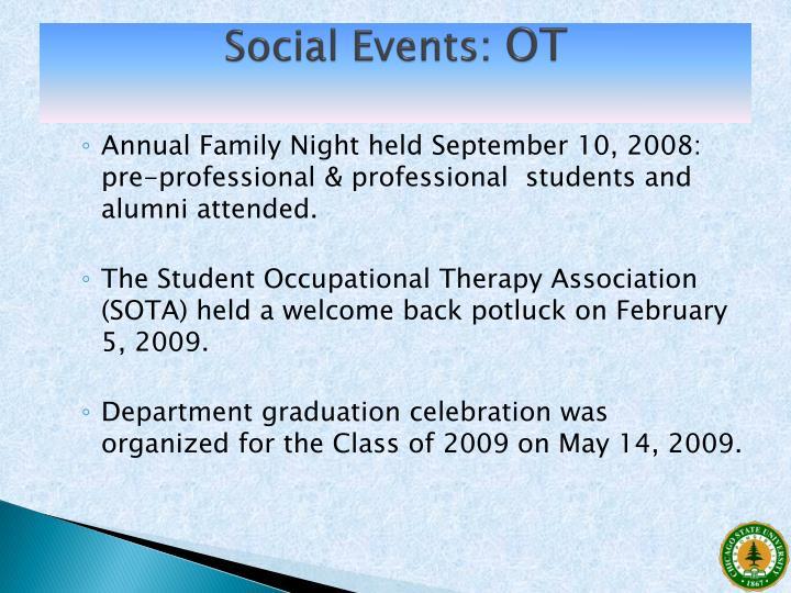 Social Events: