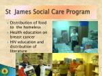 st james social care program