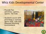 whiz kids developmental center1