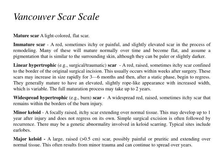 Vancouver Scar Scale