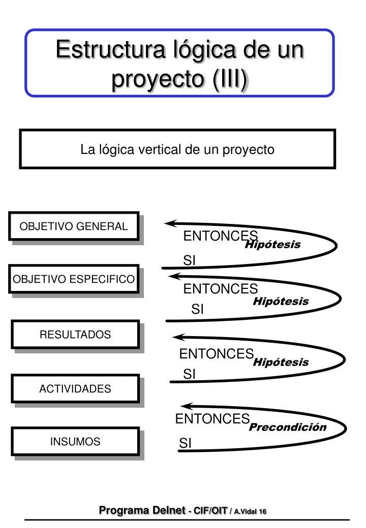 Estructura lógica de un