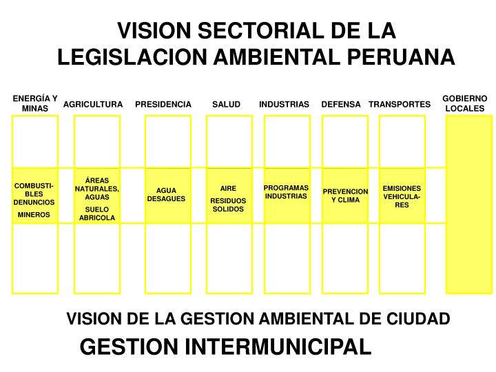 VISION SECTORIAL DE LA LEGISLACION AMBIENTAL PERUANA
