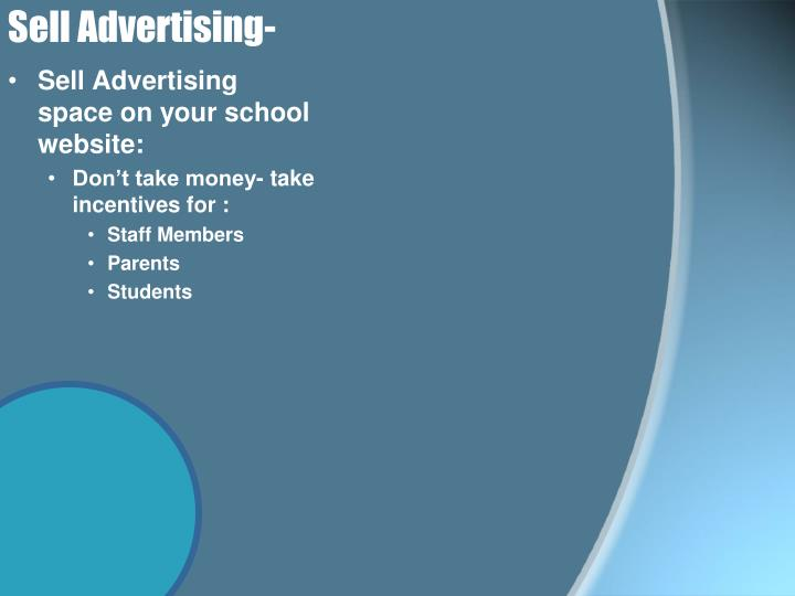 Sell Advertising-