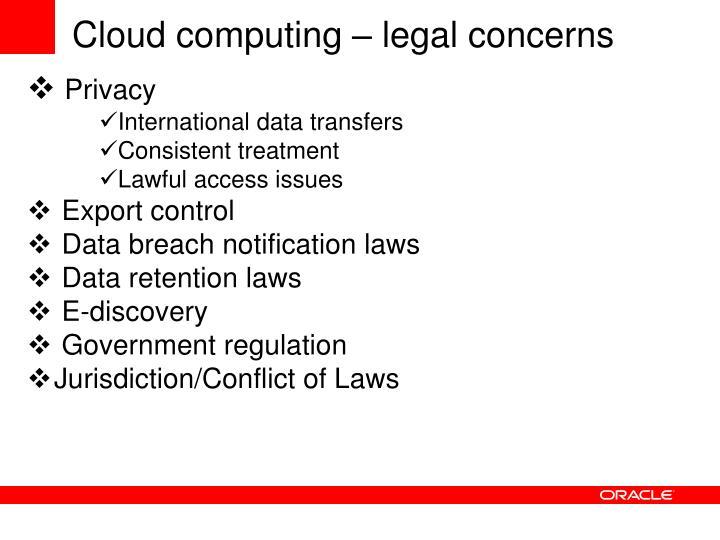 Cloud computing – legal concerns