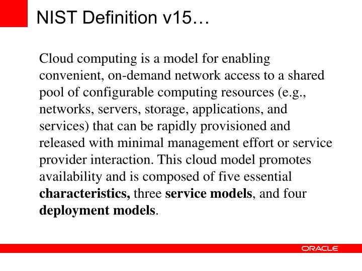 NIST Definition v15…