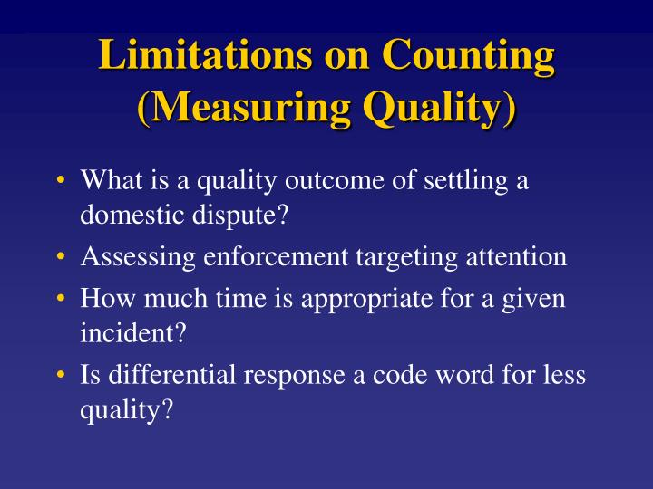 Limitations on Counting