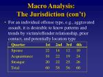 macro analysis the jurisdiction con t