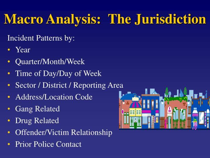 Macro Analysis:  The Jurisdiction