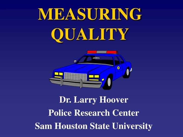 measuring quality