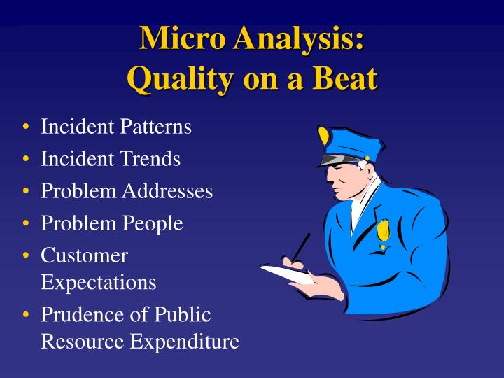 Micro Analysis: