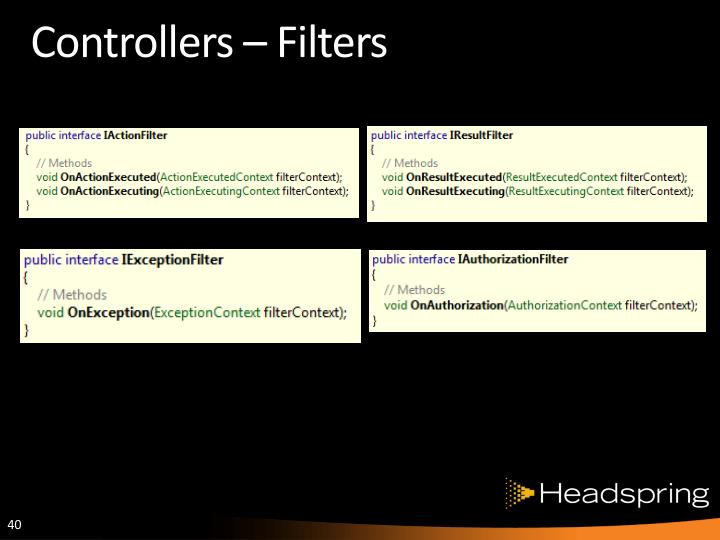 Controllers – Filters