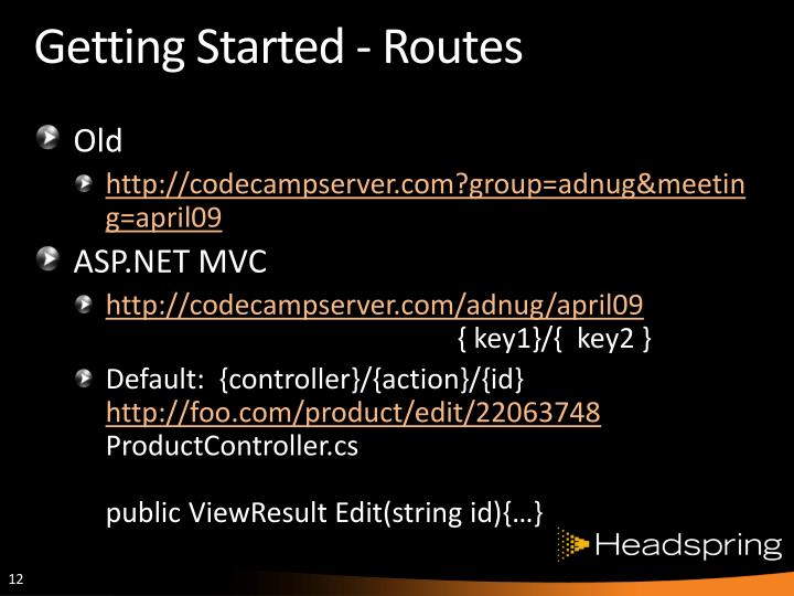 Getting Started - Routes