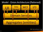 model onion architecture flattened