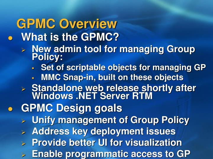 GPMC Overview