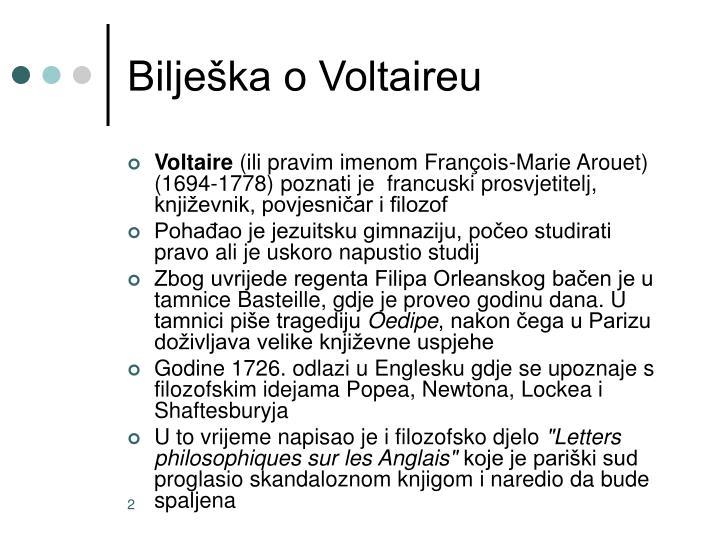 Bilješka o Voltaireu
