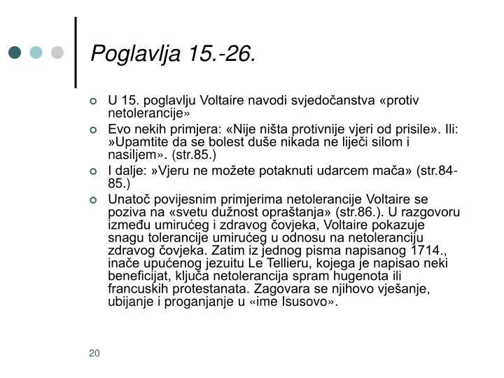 Poglavlja 15.-26.