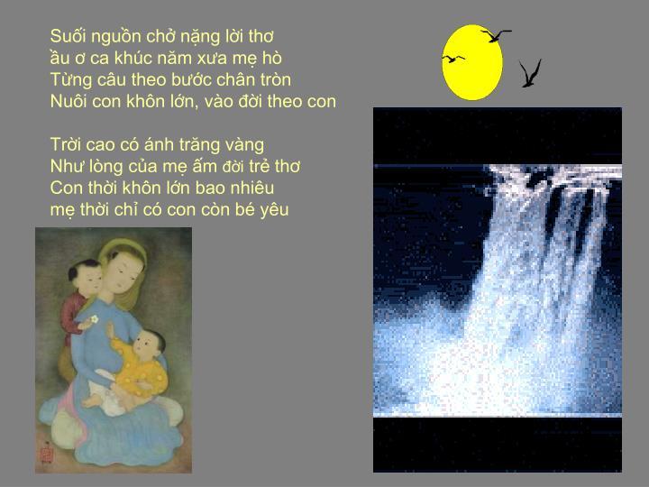 Suối nguồn chở nặng lời thơ
