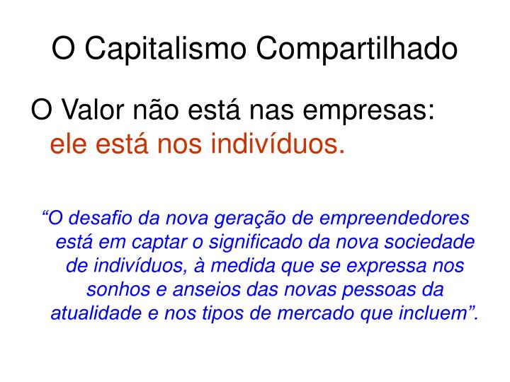 O Capitalismo Compartilhado