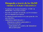 b squeda a trav s de los mesh medical subject headings