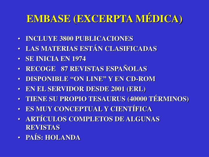 EMBASE (EXCERPTA MÉDICA)