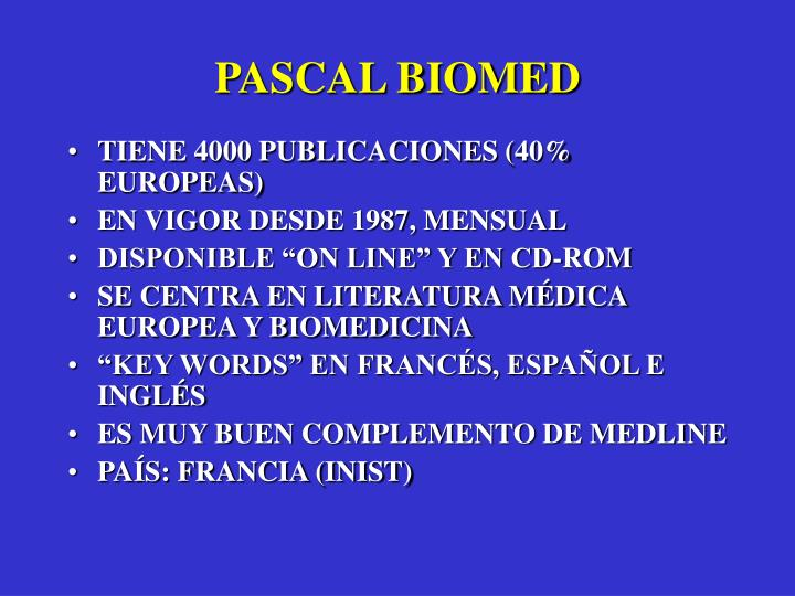 PASCAL BIOMED