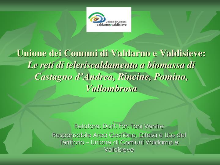Unione dei Comuni di Valdarno e Valdisieve:
