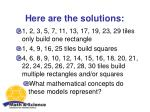 here are the solutions