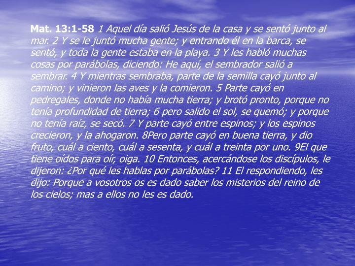 Mat. 13:1-58